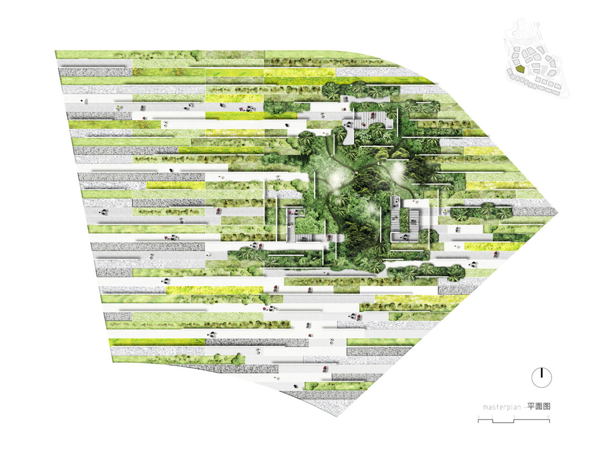 Alessandro delli ponti the forest tissue garden divisare for Garden design graphics