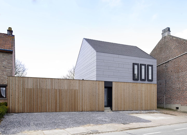 Ast 77 architecten steven massart private house renovation divisare - Uitbreiding oud huis ...